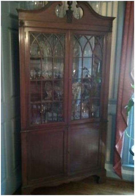 beautiful antique glass corner china cabinet classified ad