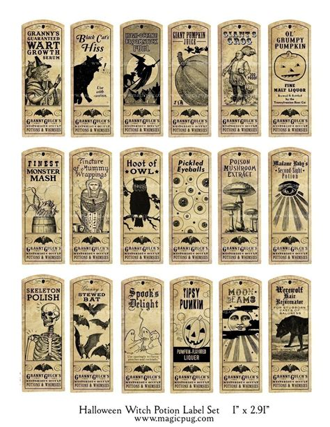 printable potion labels 8 best images of witches potion labels free printable