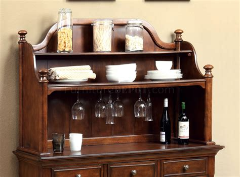 Carlton Brown Cherry Buffet Cm3558hb Descanso Dining Buffet With Hutch In Brown Cherry