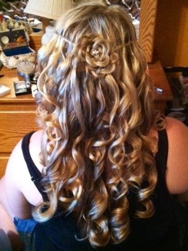 twist and curled hair for prom hairstyles weekly prom hair waterfalls and prom on pinterest