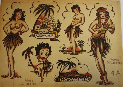 sailor jerry tattoo design zero6 arte desordem mess sailor jerry original
