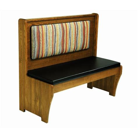 padded bench seat wood bench with padded seat wood back