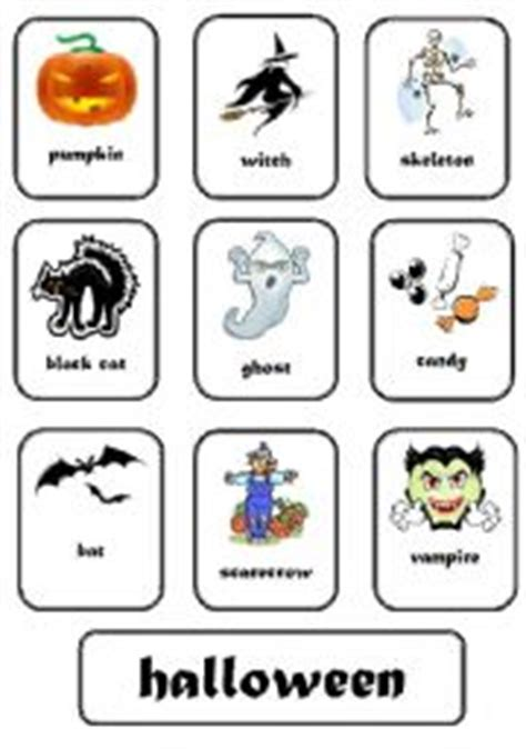 halloween flashcards printable halloween printable flashcards festival collections