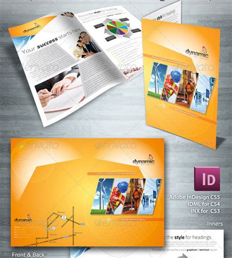 company profile indesign template 20 single fold brochure templates