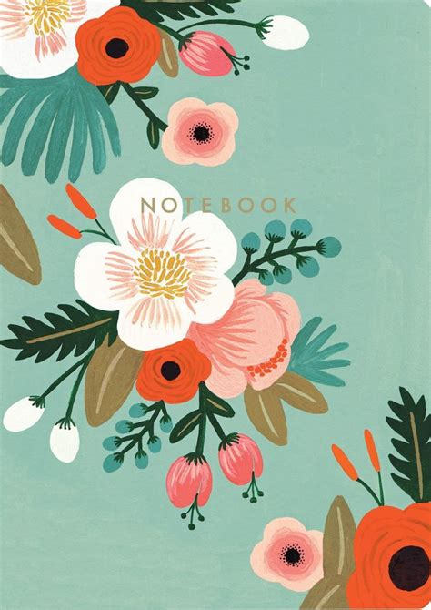 rifle paper company wallpaper botanicals notebook collection rifle paper co