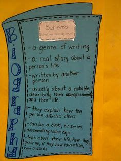 biography vs autobiography anchor chart autobiography vs biography here s a quick reference