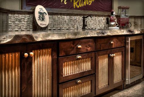 metal and wood cabinet doors re purposed tin roof in bathroom texas house ideas