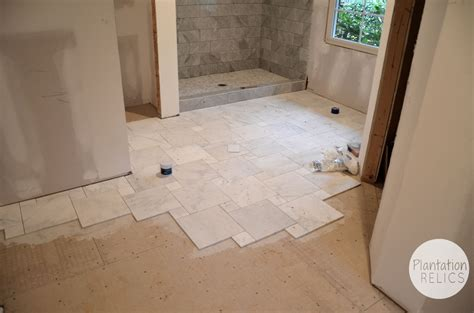 carrara marble master bath flip house update