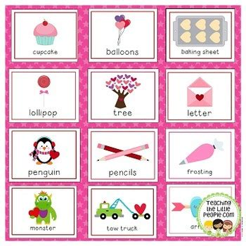 valentines day vocabulary s day vocabulary cards for preschool and