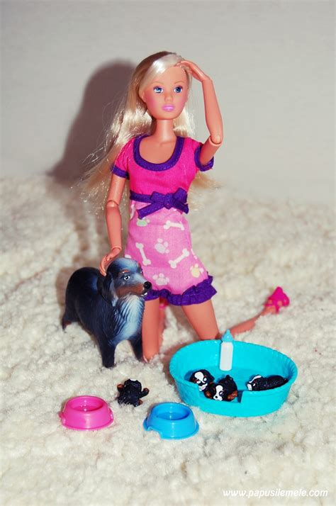 barbie boat with puppies my first articulated steffi love dog mum and babies