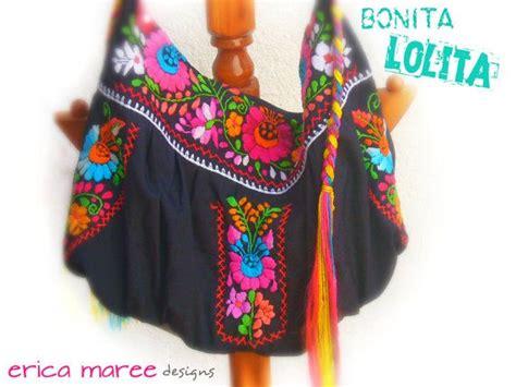 Bag Pin By Bonita by Mexican Embroidered Bonita Handbag In Black By