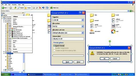 format flashdisk terminal format flashdisk via ubuntu tutorial cara membuat bootable