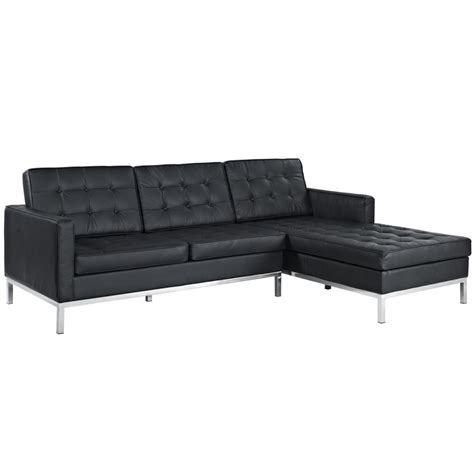 Right Sectional Sofa Bateman Leather Right Arm Sectional Sofa Modern Furniture Brickell Collection