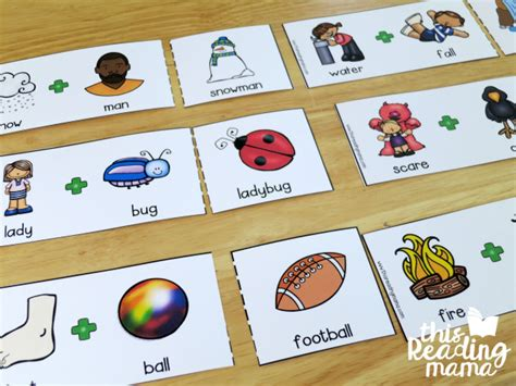 printable compound word matching games free compound words pack
