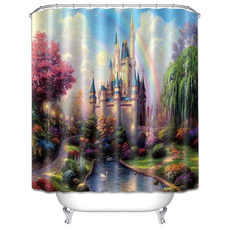 castle shower curtain disney discovery assorted castle shower curtains