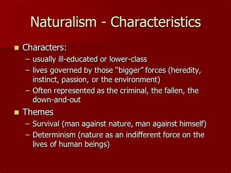 themes in realistic literature american literature realism and naturalism ppt video