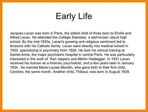 biography for high school students 5 short biography exles for highschool students