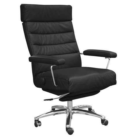 Reclining Executive Office Chair by Adele Leather Executive Reclining Office Chair Zuri