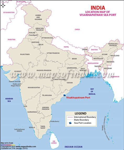 seaport map visakhapatnam port information and location map