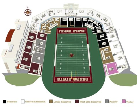 texas stadium seat map bobcat stadium bobcat stadium home of texas state football texas state football stadium