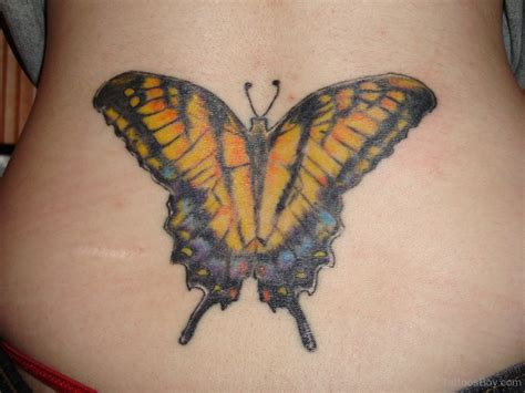 yellow butterfly tattoo lower back tattoos designs pictures page 7