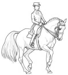 Horse dressage coloring pages equestriancoloringbooks