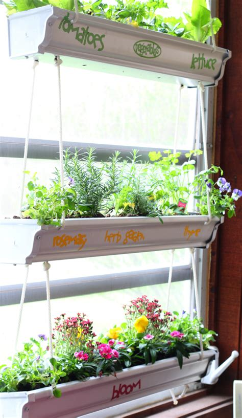 Gutter Planter by Hanging Gutter Planter Easy Diy Home With Cupcakes And