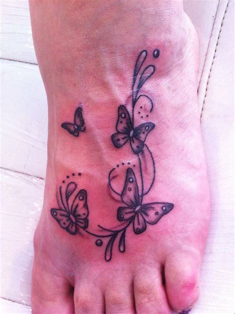butterfly tattoo in feet butterfly tattoos on foot butterflies on foot tattoo
