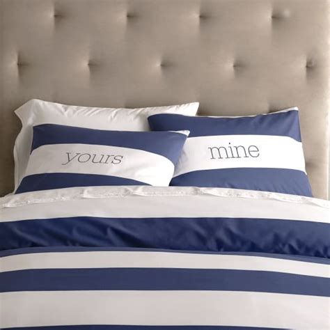 navy and white striped bedding stripe duvet cover shams white navy west elm