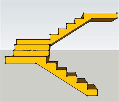 U Stairs Design U Stairs With Landing Design