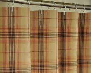 plaid shower curtain etsy bathroom stuff