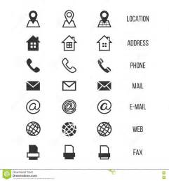 business card symbols business card vector icons home phone address telephone fax web location symbols stock