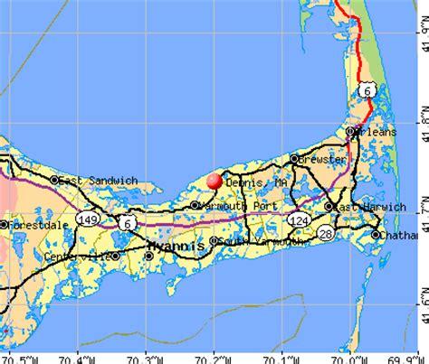 cape cod ma zip code dennis massachusetts ma 02638 profile population maps
