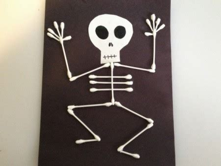 q tip skeleton template skeleton crafts thriftyfun