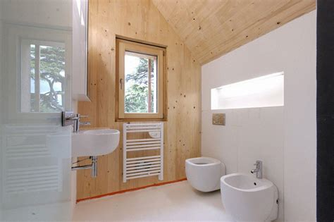 wooden house bathroom architecture fascinating white wall and wooden wall in the passive house bathroom