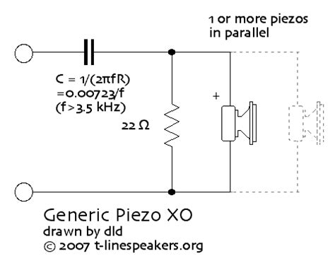 piezoelectric resistor frugal phile piezo tweeter crossovers j risch