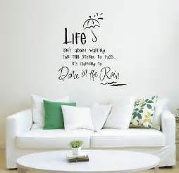 Wall Decals For Guest Bedroom - dance in the rain wall art sticker quote wall stickers 011 3 sizes