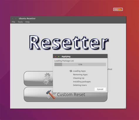 resetter for ubuntu resetter reset ubuntu and linux mint to default settings
