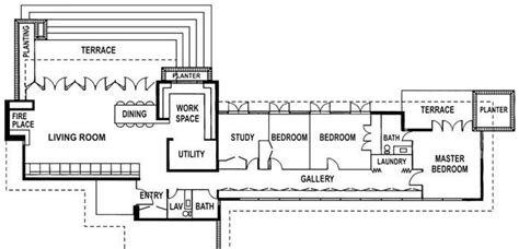frank lloyd wright usonian floor plans usonian house and pavilion the 1953 new york usonian