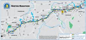 Boston Marathon Finish Line Map by Catching The Leaders On Heartbreak Hill 16 Topics For The