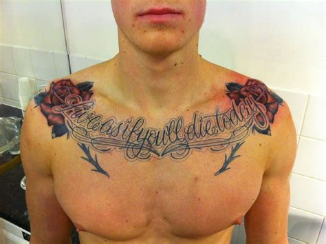 rose tattoos for men on chest chest tattoos for tattoos