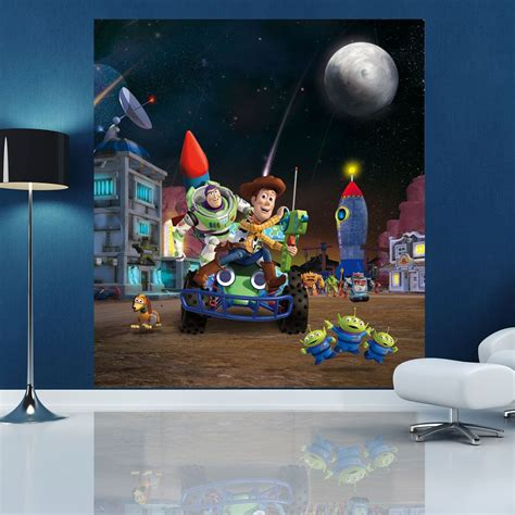 toy story home decor toy story wall mural 180 x 202cm 5 10 x 6 8ft kids