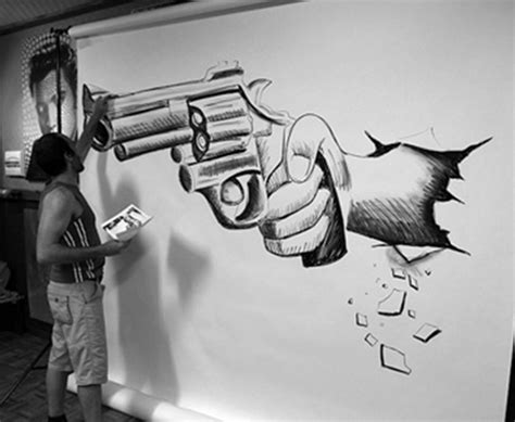 pictures of 3d drawing on a wall 3d wall drawings 3d wall