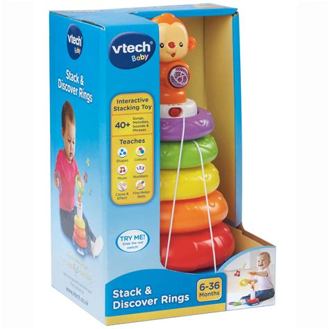 vtech stack discover rings 163 13 00 hamleys for toys and