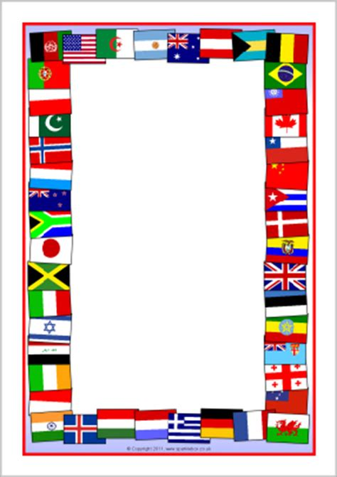 printable flags of the world a4 flags of the world a4 page borders sb5827 sparklebox