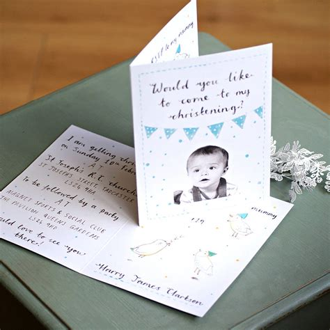 Personalised Invitations by Personalised Christening Invitation By Whincup