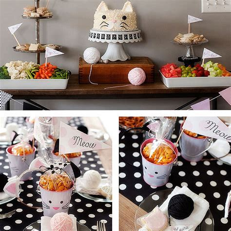 kitty cat themed birthday party real moms real birthday parties