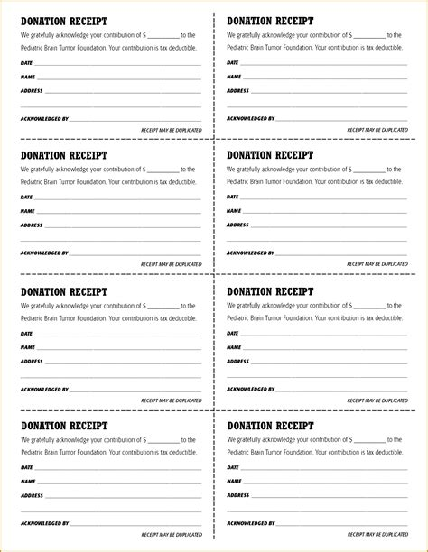 tax deductible receipt template free 6 tax deductible receipt template fabtemplatez