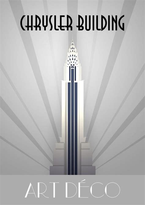 Chrysler Building Deco by Chrysler Building Poster Deco