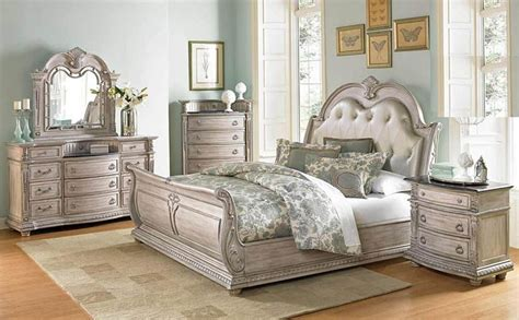antique white bedroom furniture von furniture palace ii bedroom set with sleigh bed in